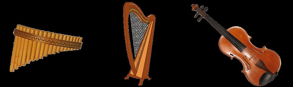 Panfloete - Harfe - Violine